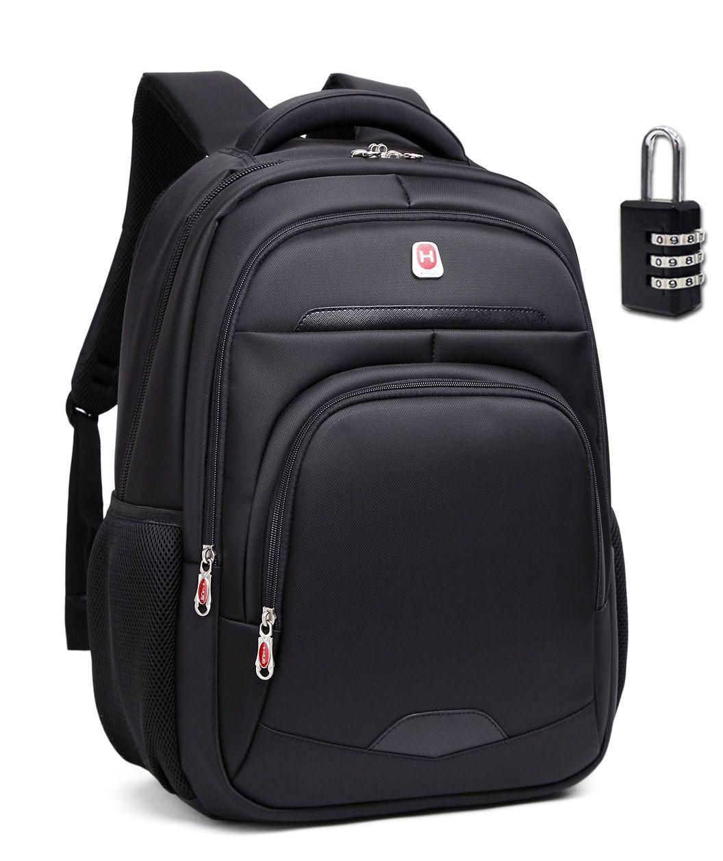 Mochila Notebook Hub H119 Reforçada 30L Preta C/ Cadeado