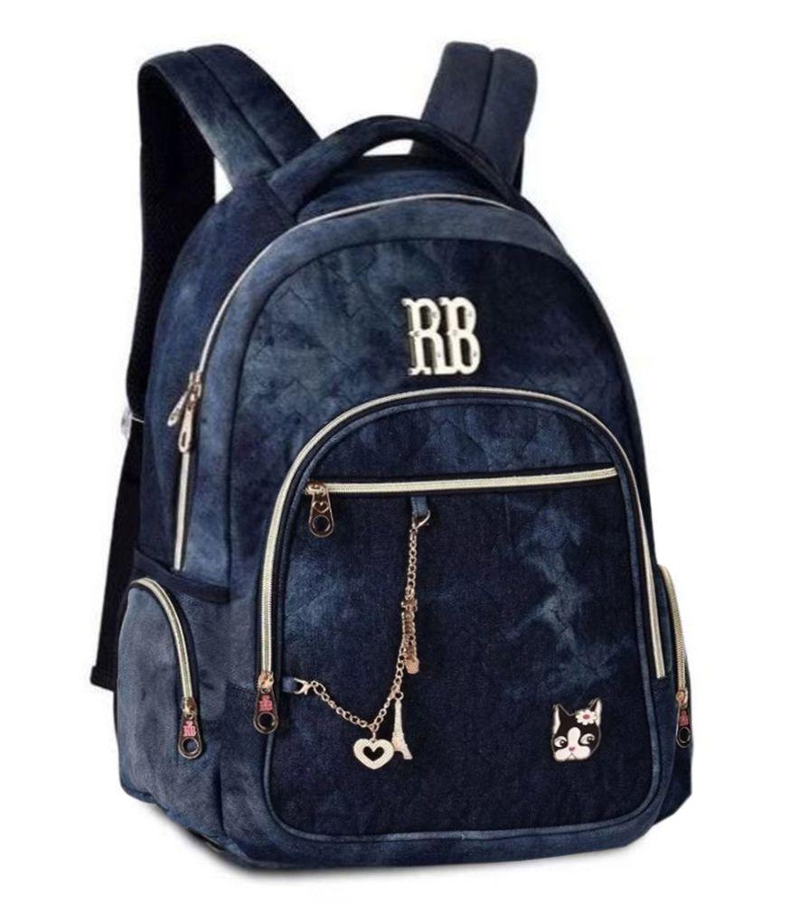 Mochila Rebecca Bonbon Em Jeans RB2088 Notebook Escolar