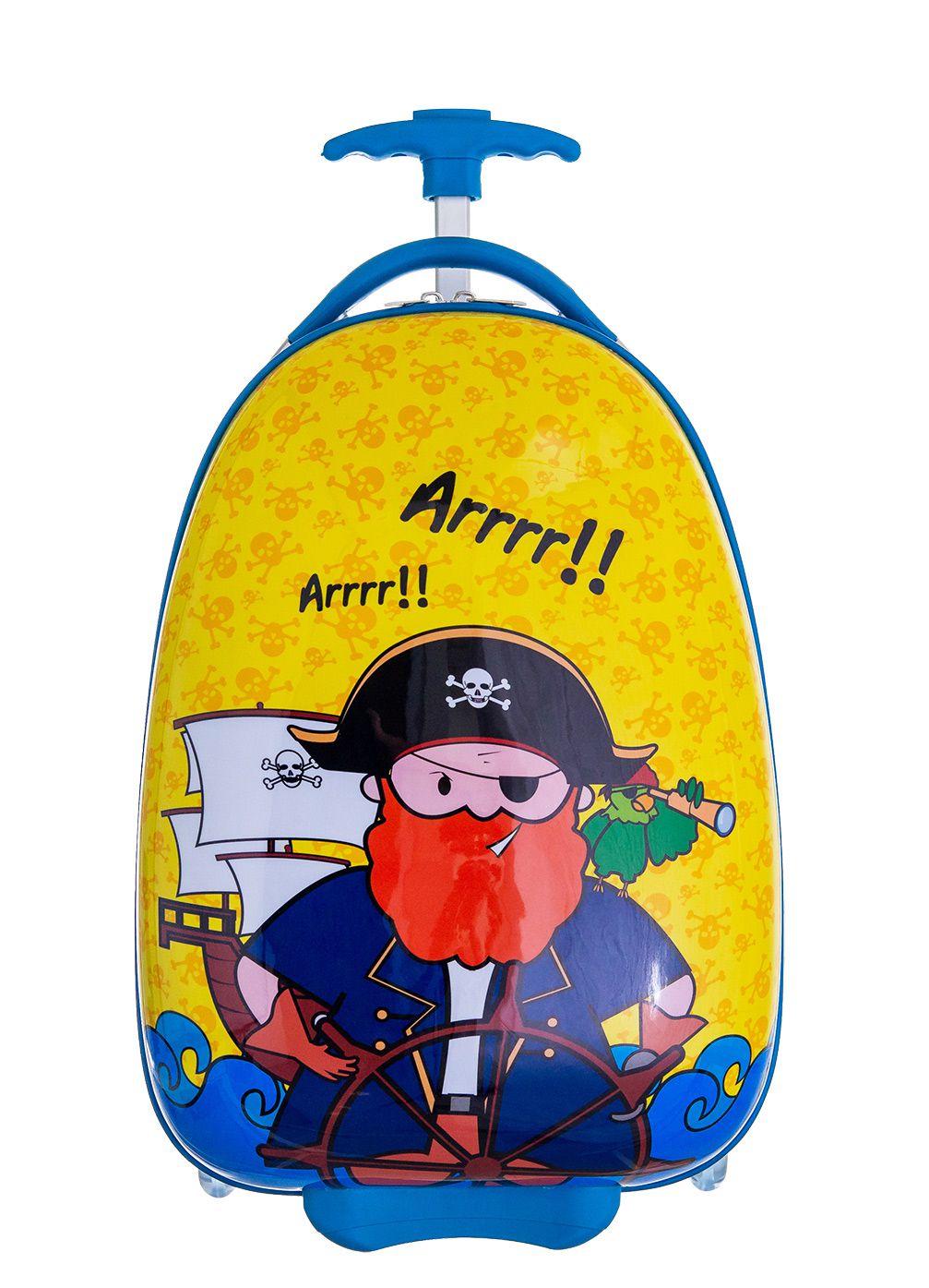 Mochila Rígida Mala Infantil Escolar Viagem ABS Pirata
