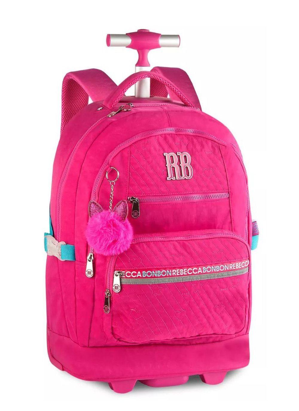 Mochila Rodinhas Feminino Rebecca Bonbon RB2058 Laptop Rosa