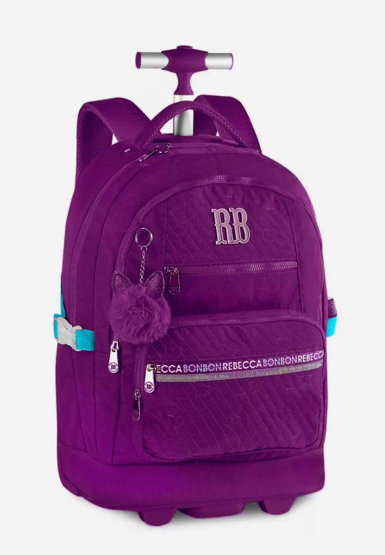 Mochila Rodinhas Feminino Rebecca Bonbon RB2058 Laptop Roxo