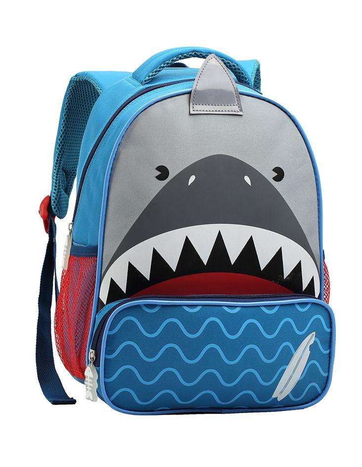 Mochila Tam P Infantil Passeio Creche Seanite Shark Tubarão