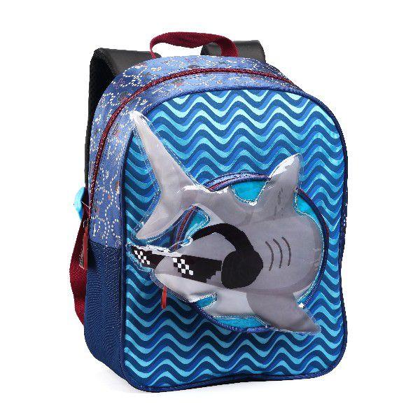 Mochilinha Infantil Tubarão Shark Pré Escolar Creche Pequeno