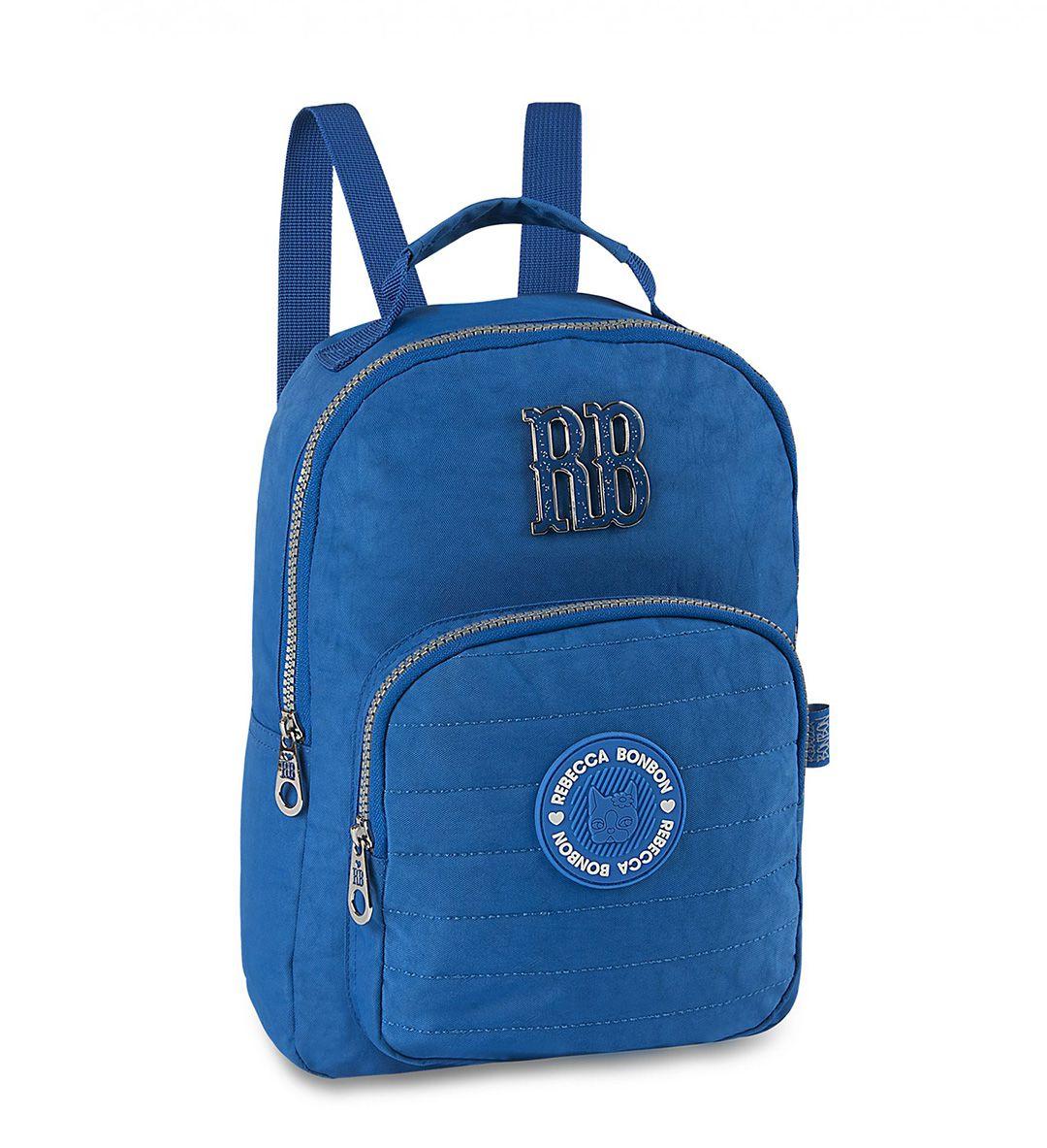 Mochilinha Rebecca Bonbon RB2043 Moda Moderna Pequena Azul