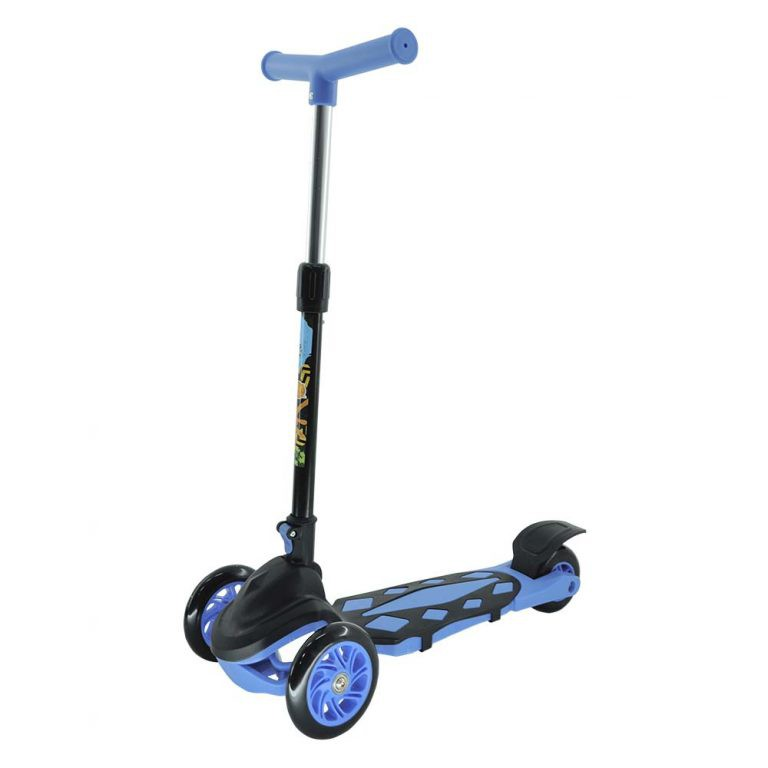 Patinete Infantil 3 Rodas Radical Flash Power Dobrável Azul