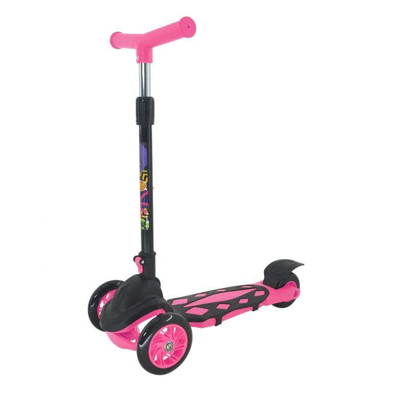 Patinete Infantil Feminina 3 Rodas Altura Ajustável Pink