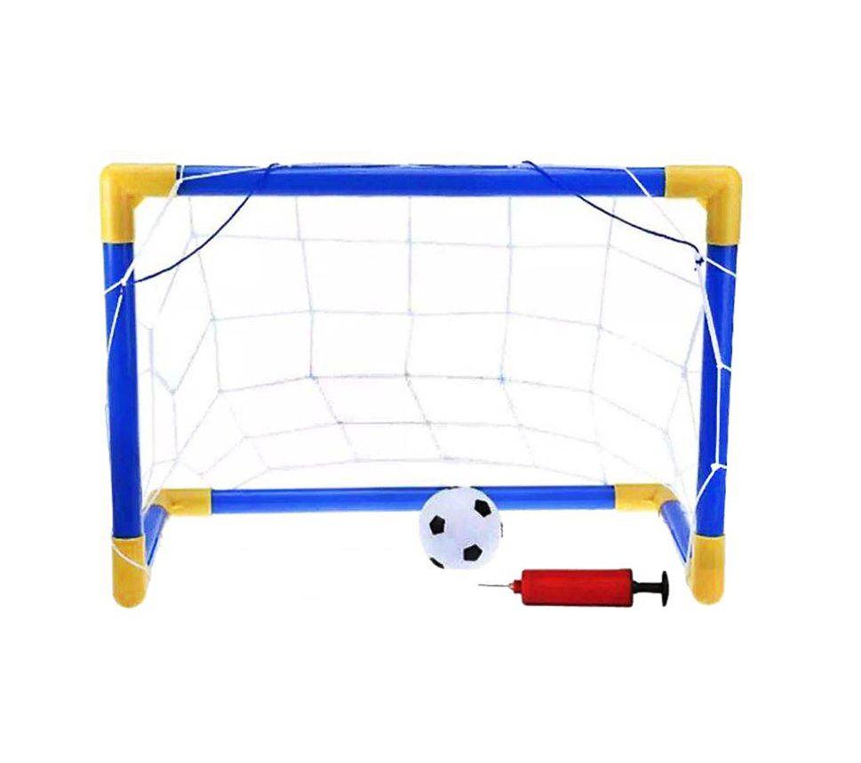 Trave Futebol Infantil Jogo Esporte Com Mini Bola 76cmx47cm
