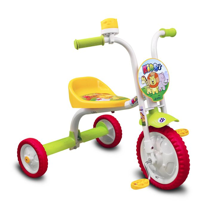 Triciclo Infantil Kid Unissex Com Buzina You3 Nathor Verde
