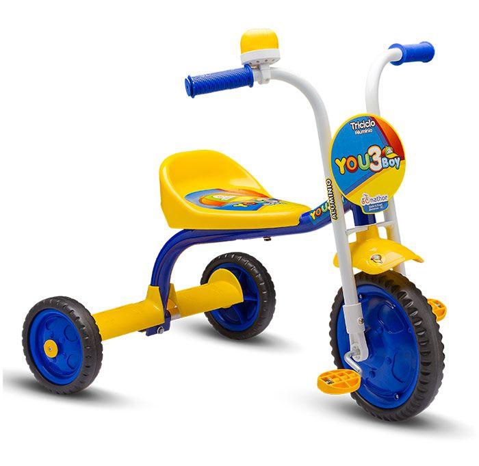 Triciclo Infantil Masculino Com Buzina Nathor You 3 Boy Azul