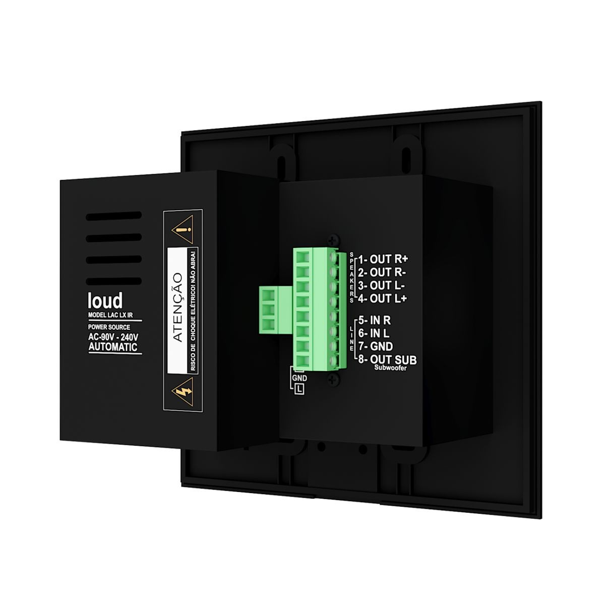 Amplificador de Parede Bluetooth C/ Controle LAC LX BT BLACK Loud