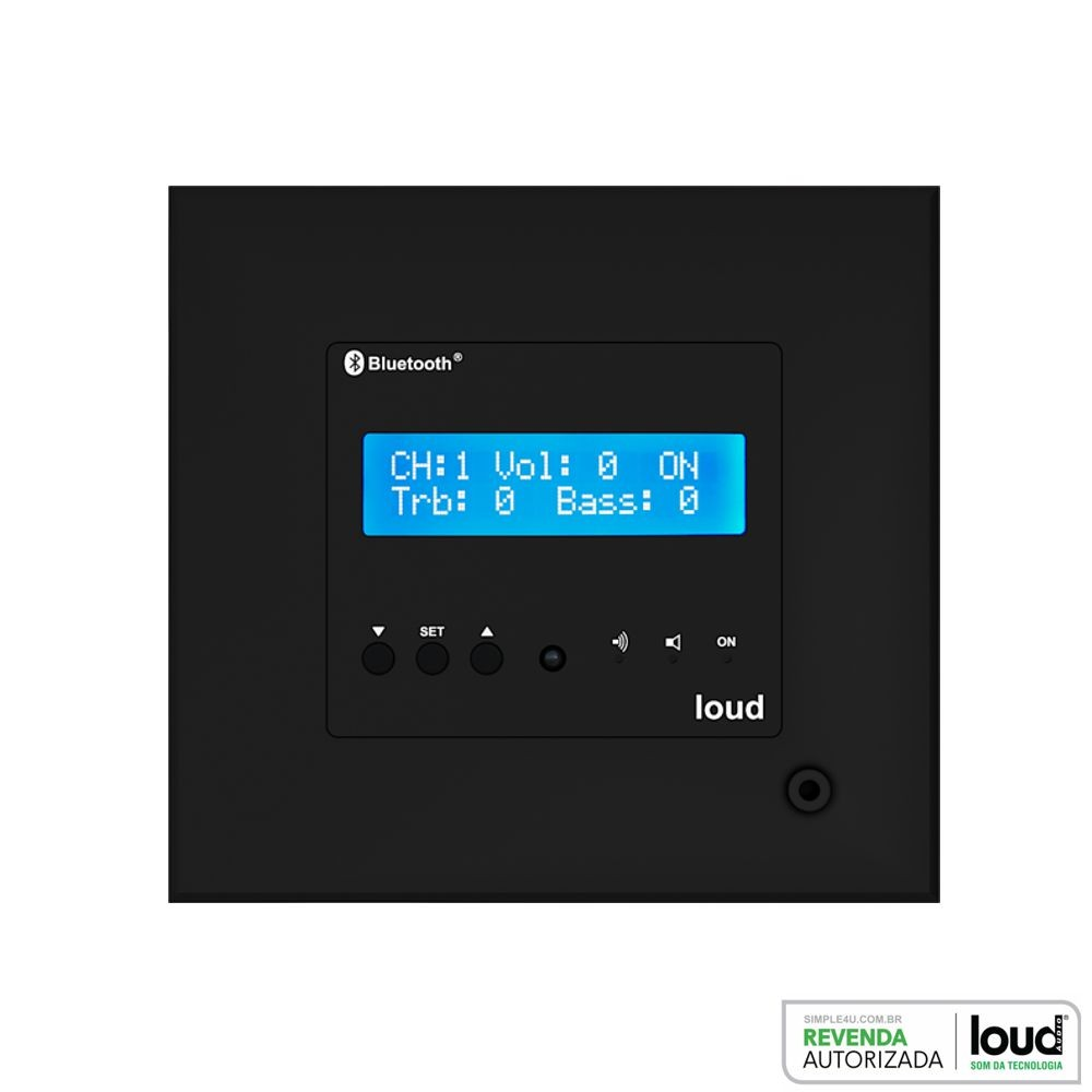 Amplificador de Parede Bluetooth C/ Controle LAC NG BLACK Loud