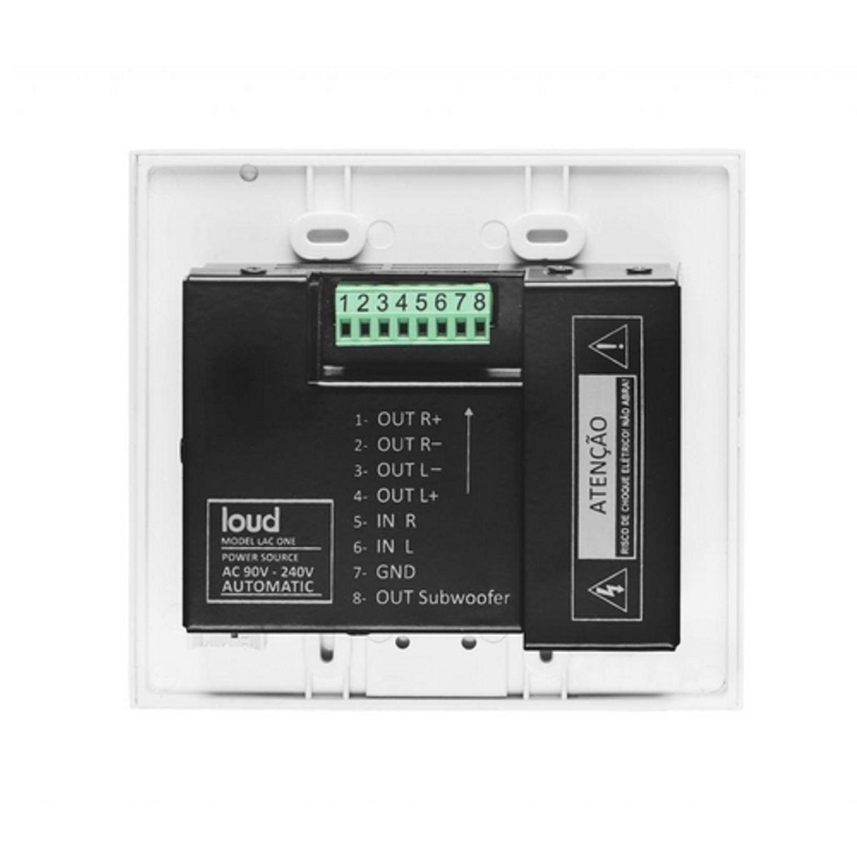 Amplificador de Parede C/ Entrada Auxiliar P2 Frontal LAC ONE Loud