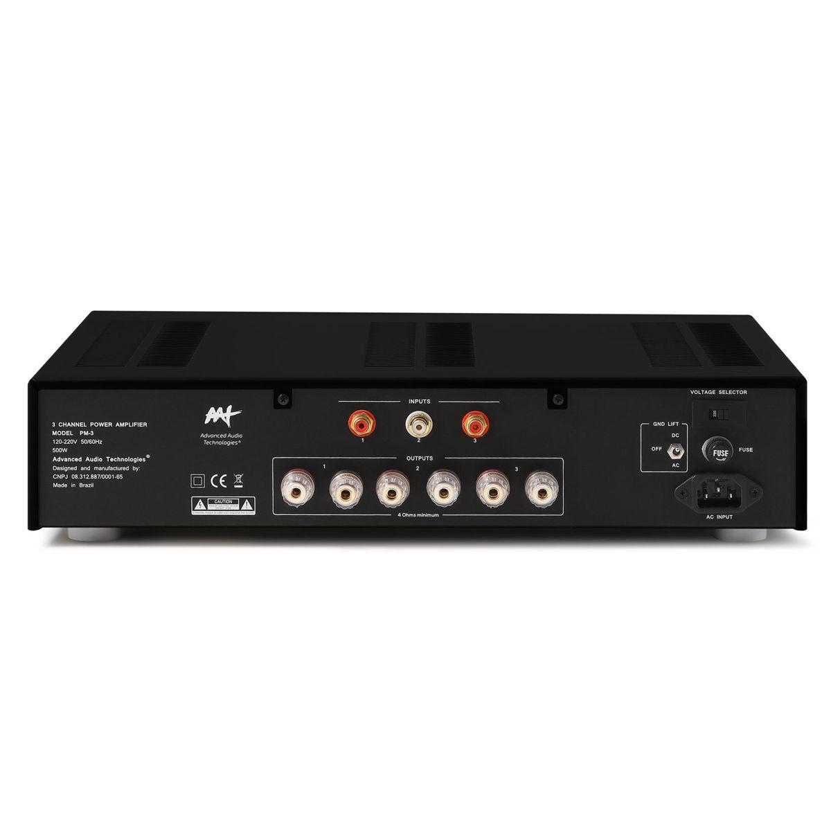 Amplificador de Potência 3 Canais 210W RMS Total  PM-3 AAT
