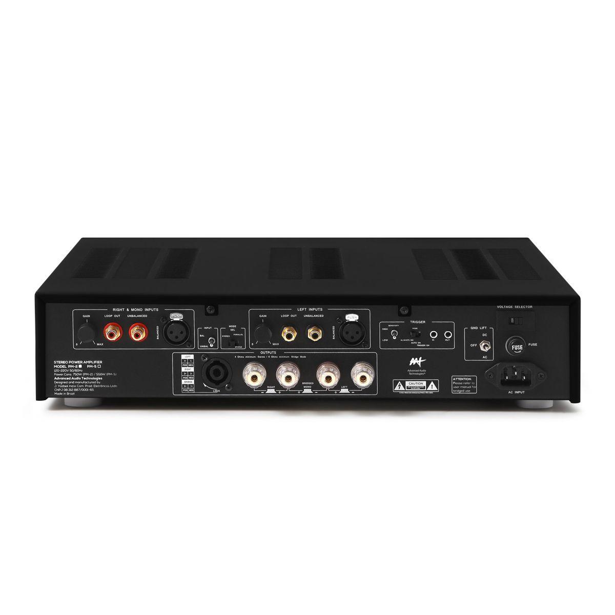Amplificador de Potência Estéreo C/ XLR / RCA / Bridge  430W RMS PM-2 AAT