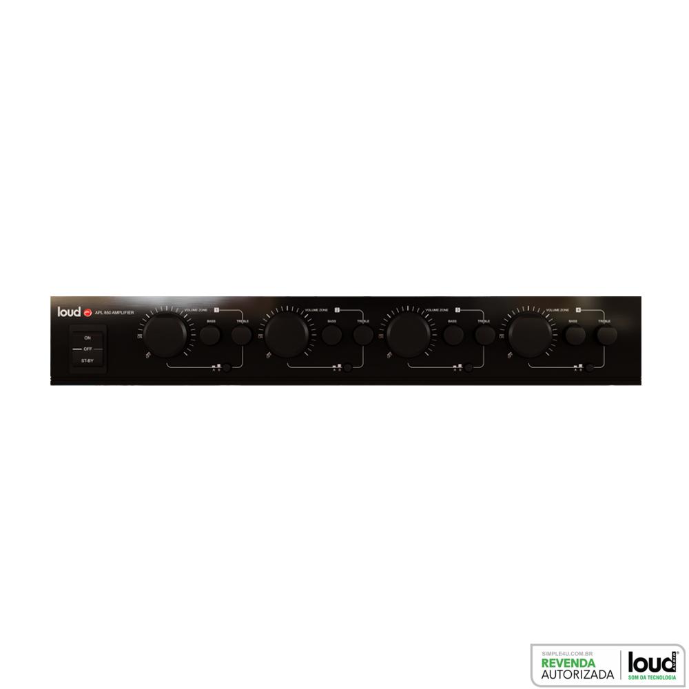 Amplificador Multiroom 4 Zonas 400W RMS Total APL-850 Loud