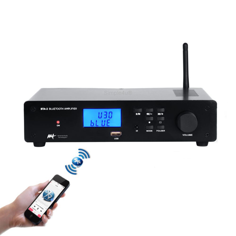 Amplificador Receiver de Áudio Stereo Streaming Bluetooth BTA-2 AAT
