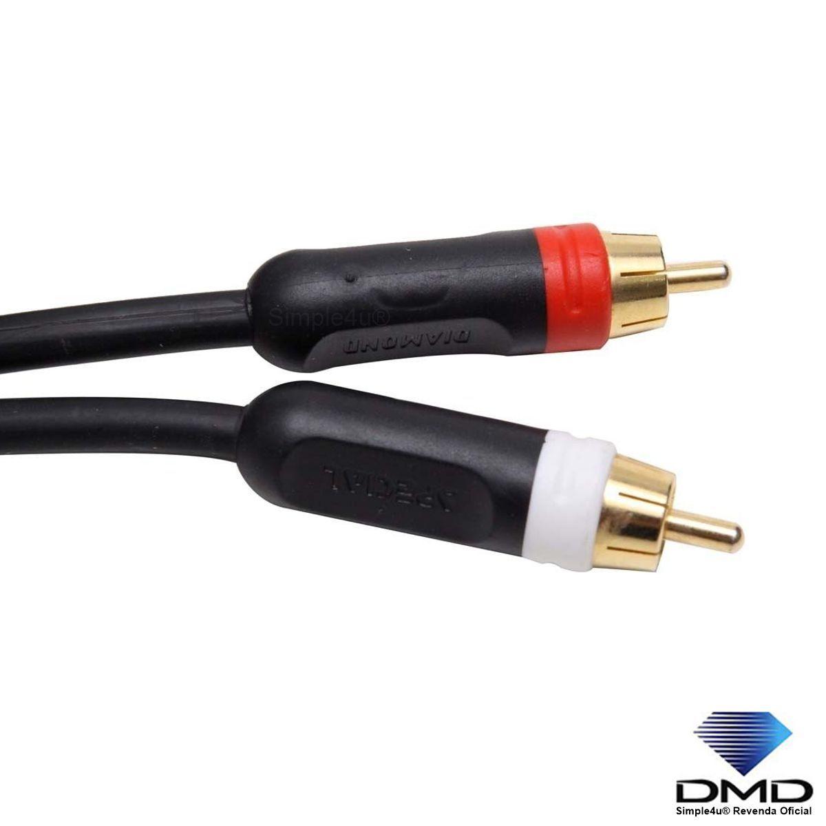 Cabo de Áudio Estéreo RCA Linha SPECIAL Series JX-1055/3,0M DMD Diamond Cable