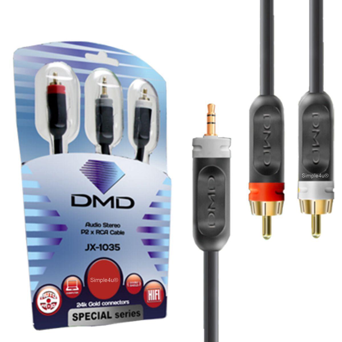 Cabo de Áudio P2 / 2X RCA Linha SPECIAL Series JX-1035/1,5M DMD Diamond Cable