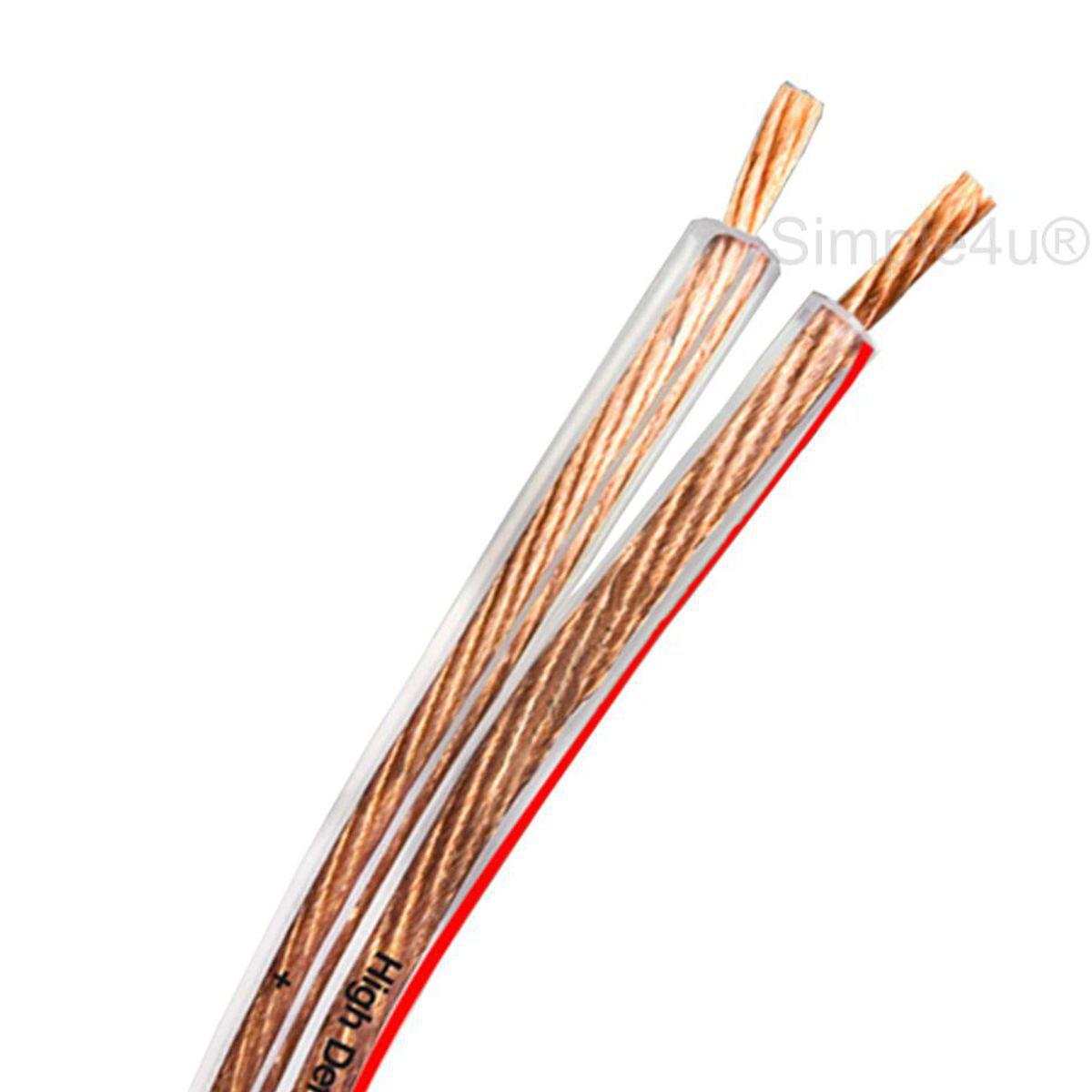 Cabo Polarizado P/ Caixa Acústica de Som 2x1,50mm2 HP-SP 150 DMD Diamond Cable (20 MT)