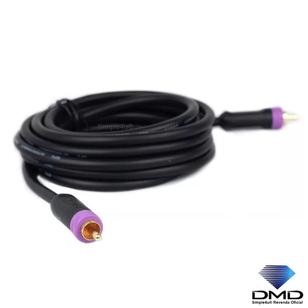 Cabo RCA Mono P/ Subwoofer DMD Diamond Cable JX-1057 (7M)