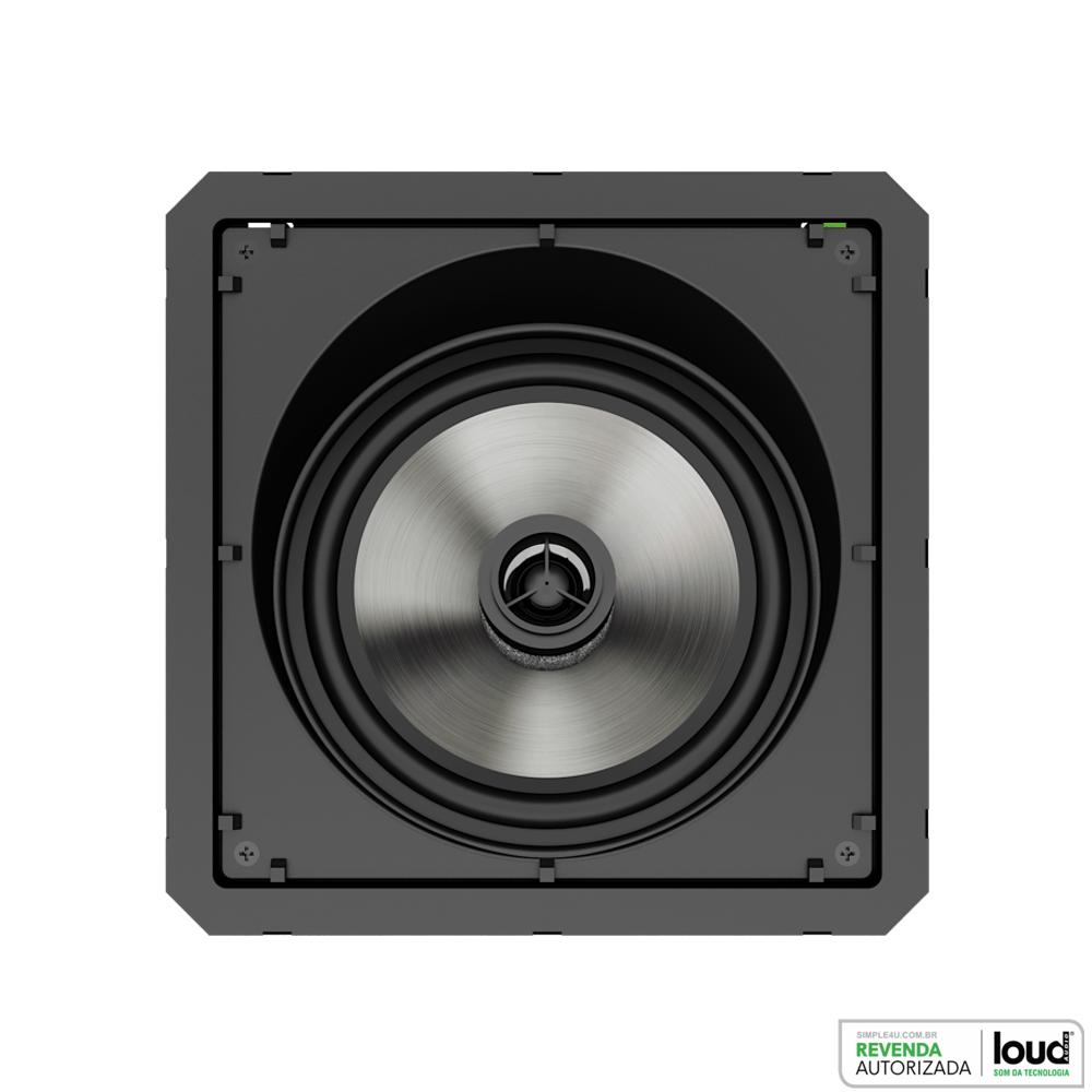 Caixa Acústica de Embutir no Gesso Angulada Borderless 120W SL6-120 BL Loud