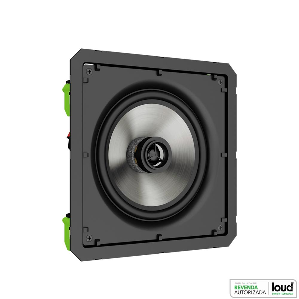 Caixa Acústica de Embutir no Gesso Borderless 120W SQ6-120 BL Loud