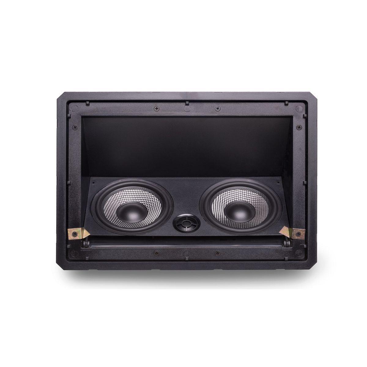 Caixa Acústica de Embutir no Gesso Borderless C/ Ajuste de Angulo LHT-100 BL LOUD