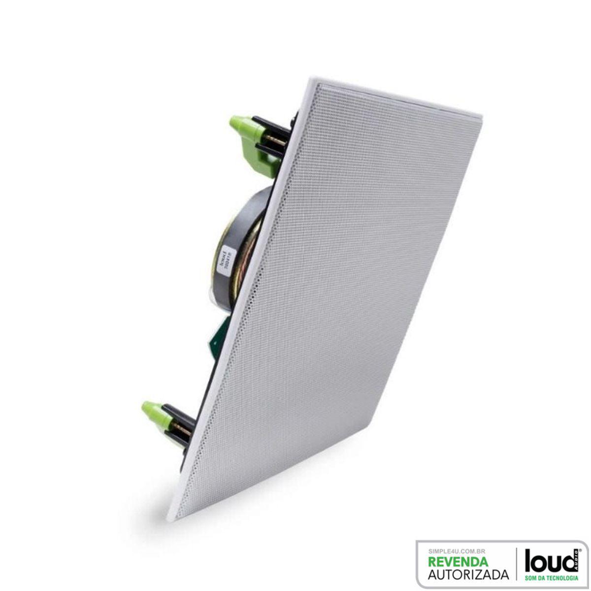 Caixa Acústica de Embutir no Gesso Plana Black Kevlar CSK6-120 BL Loud