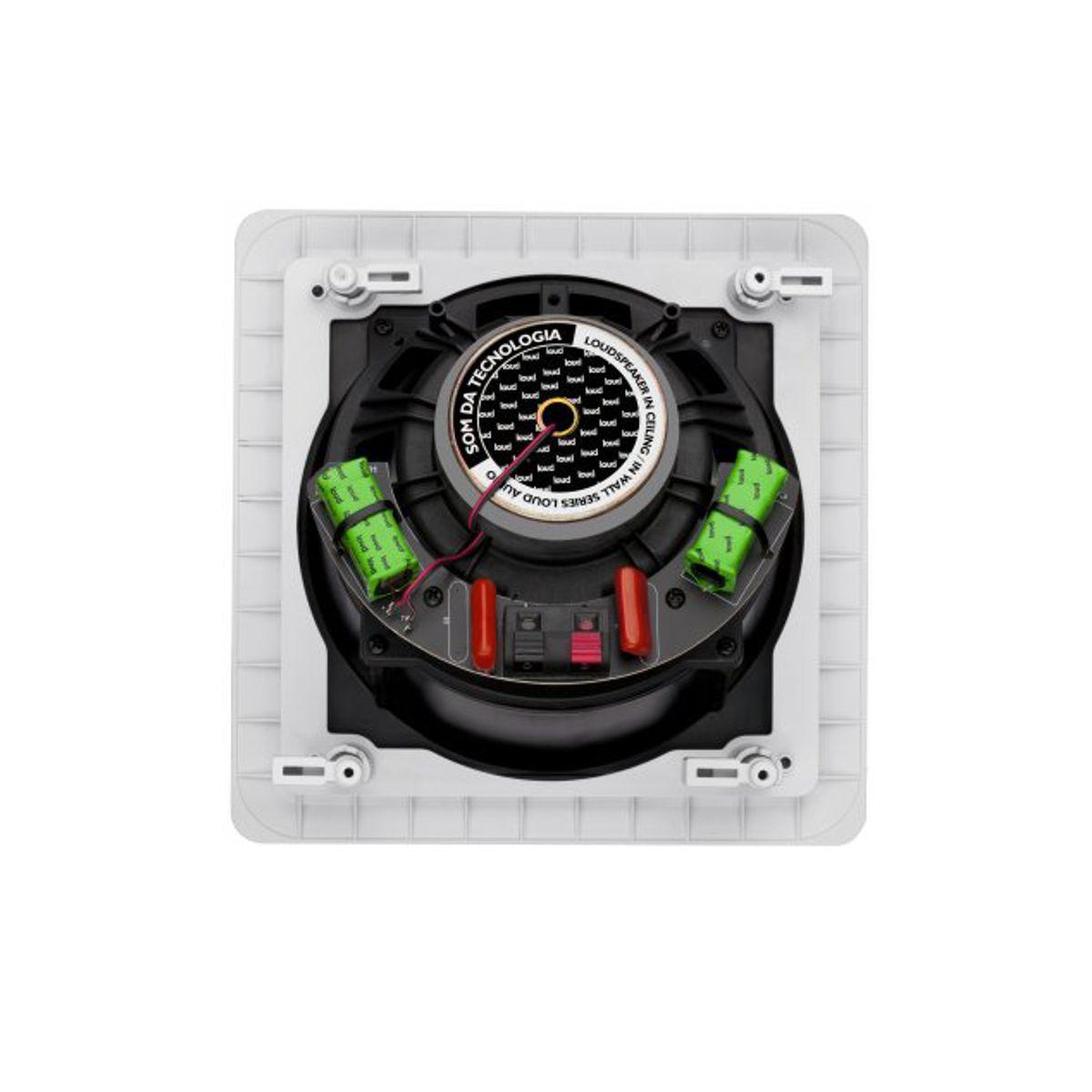 Caixa Acústica de Embutir no Gesso Quadrada Angulada 50W RMS - SL6-50 Loud