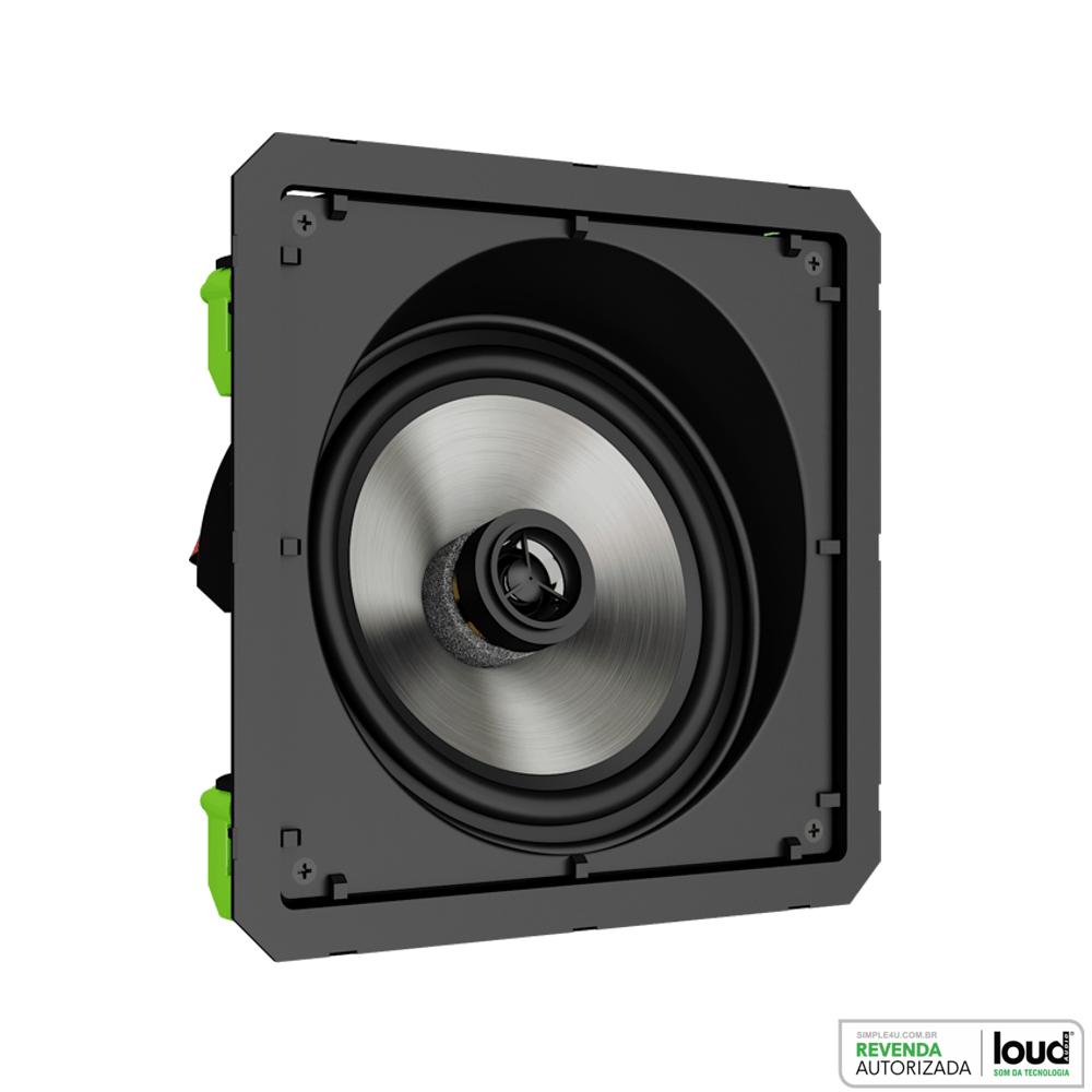 Caixa Acústica de Embutir no Gesso Quadrada Angulada Borderless 60W SL6-60 BL Loud