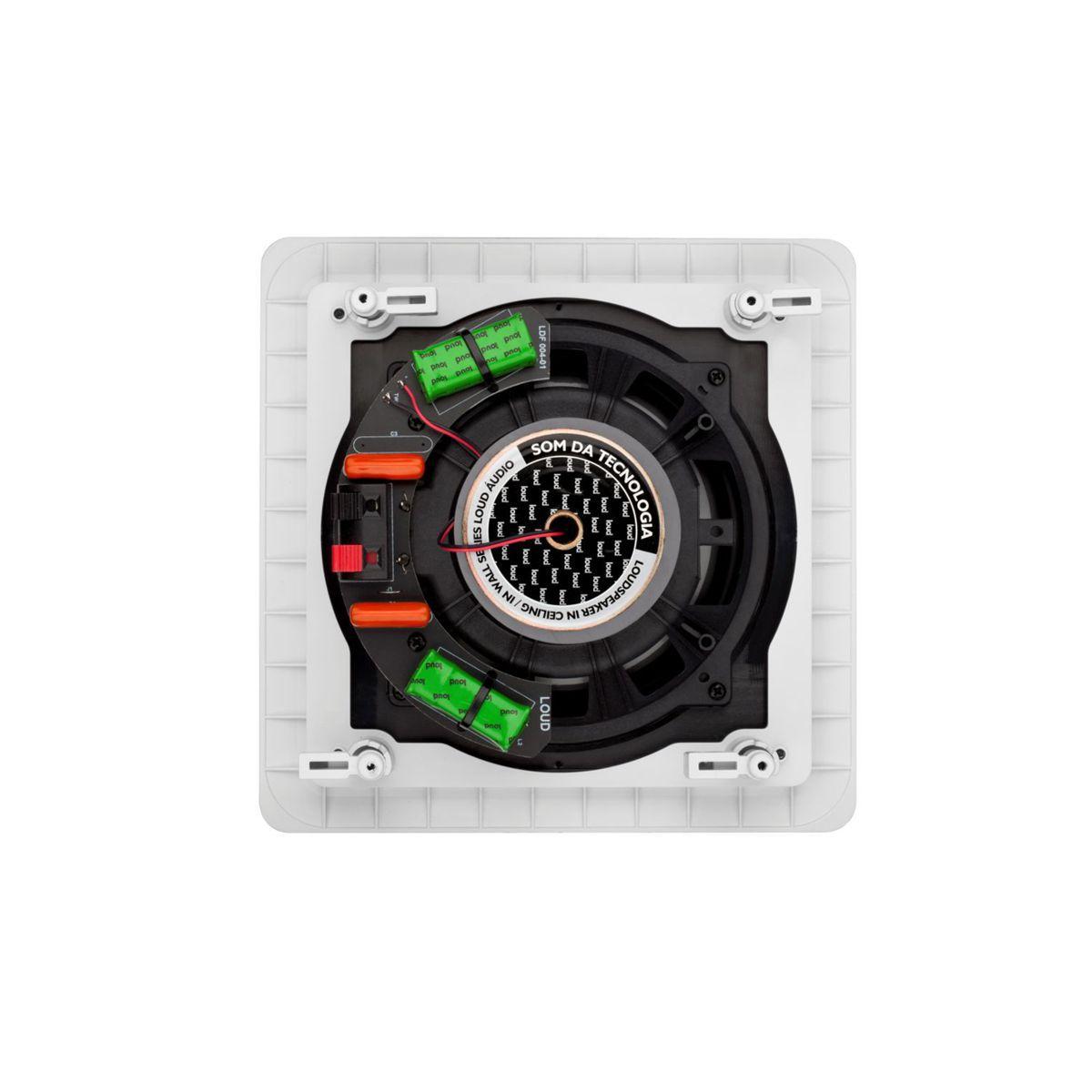 Caixa Acústica de Embutir no Gesso Quadrada Plana Borderless 60W SQ6-60 BL Loud