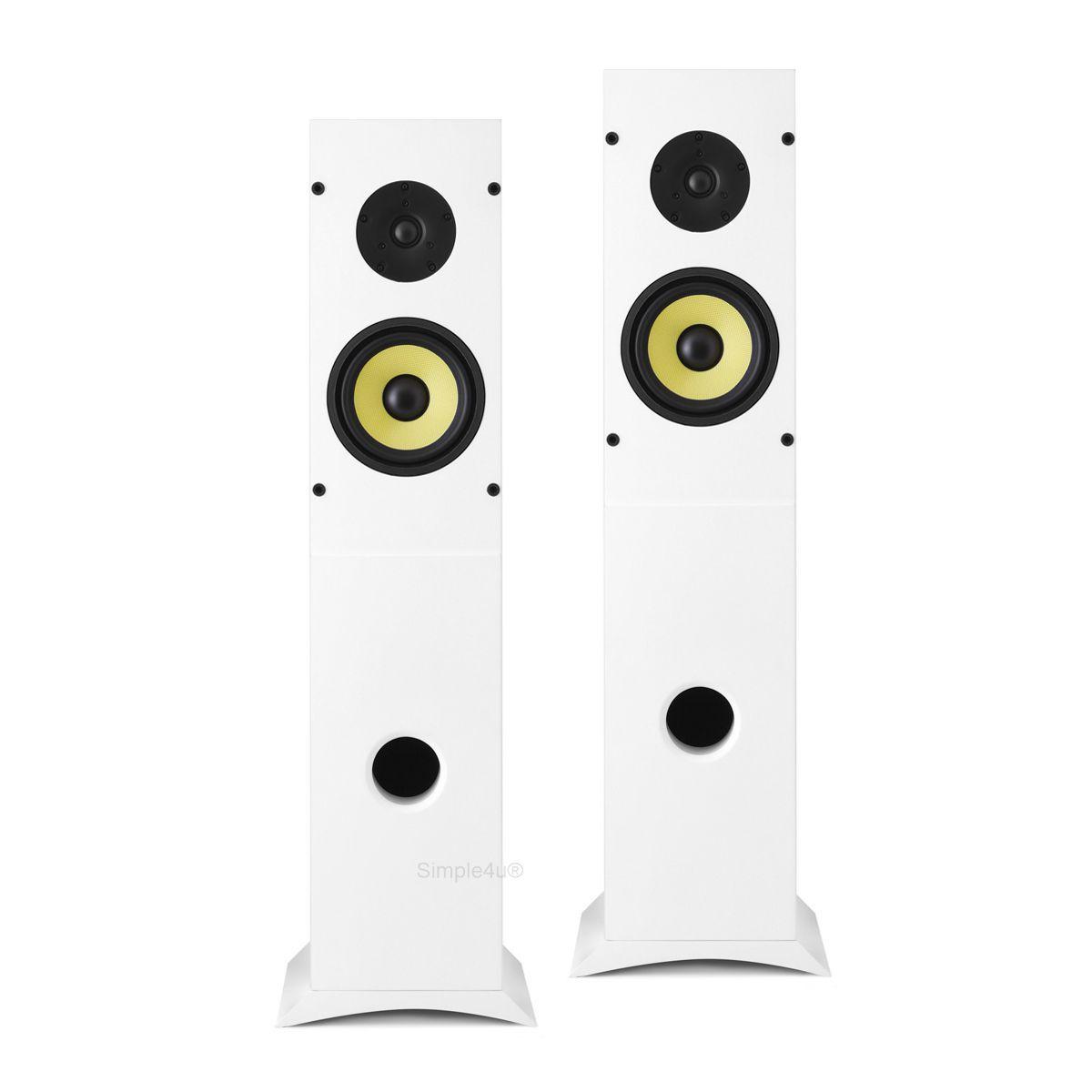 Caixa Acústica Torre Microtexturizada Fosca Bi-Amplificada 100W RMS RAKT T-100 AAT (PAR)