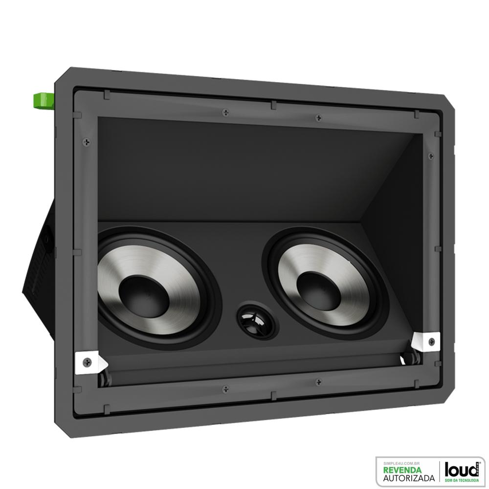 Caixa de Embutir no Gesso Borderless C/ Ajuste de Angulo LHT-80 BL Loud