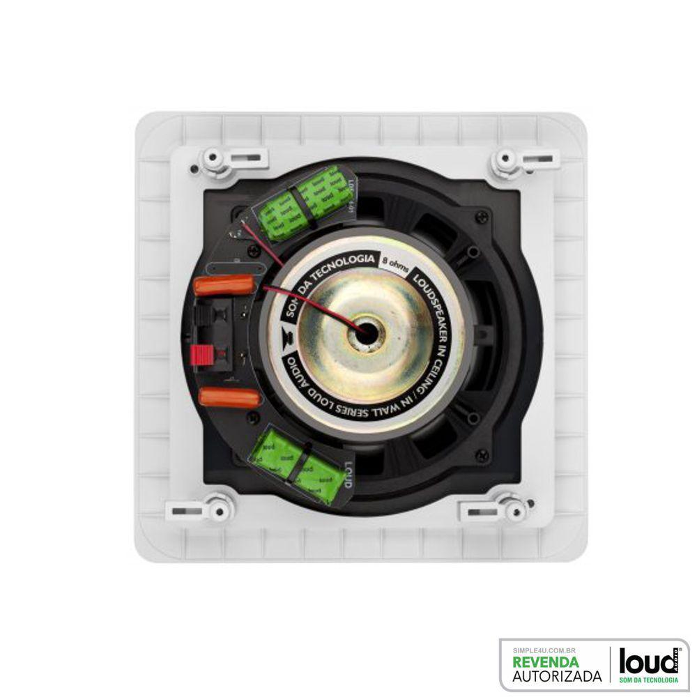 Caixa de Embutir no Gesso Quadrada Plana 100W RMS SQ8 Loud