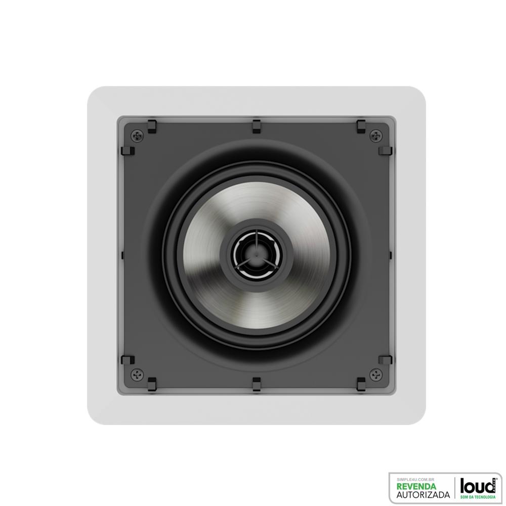 Caixa de Embutir no Gesso Quadrada Plana 50W RMS - SQ5-50 Loud