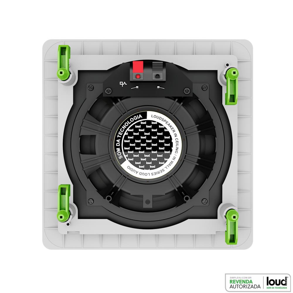 Caixa de Embutir no Gesso Quadrada Plana Full Range 30W SQ6-PA Loud