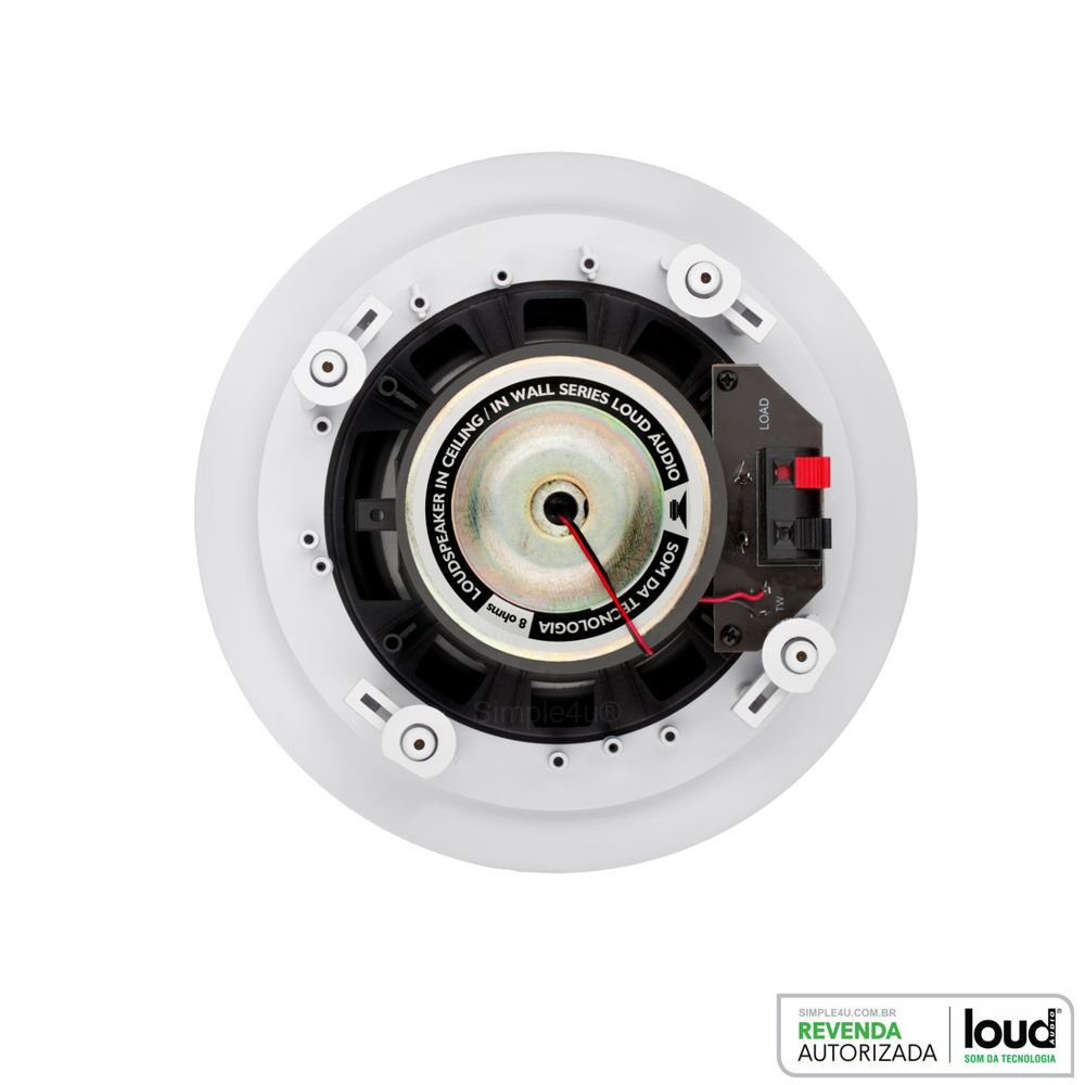 Caixa de Embutir no Gesso Redonda 100W RCS-100 Loud
