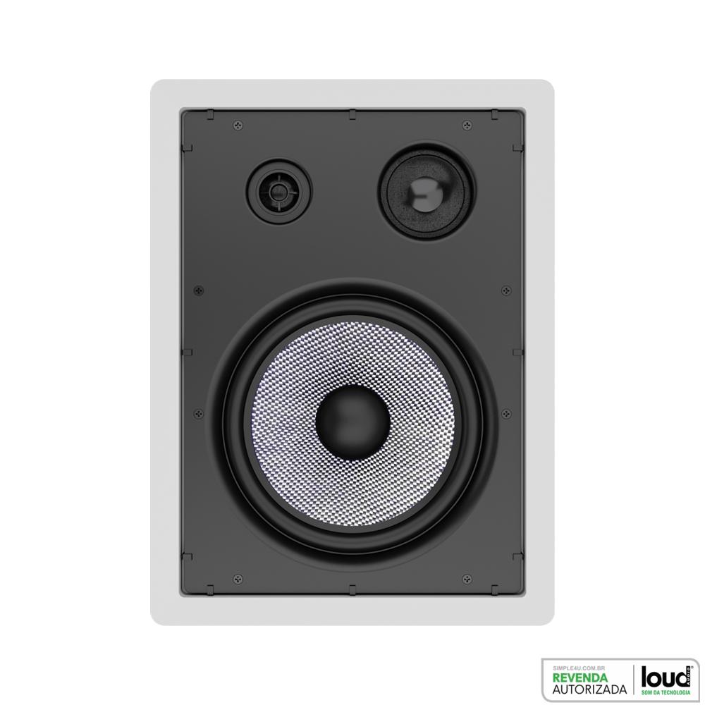 Caixa de Embutir no Gesso Retangular Plana 100W LHT TW-100 Loud