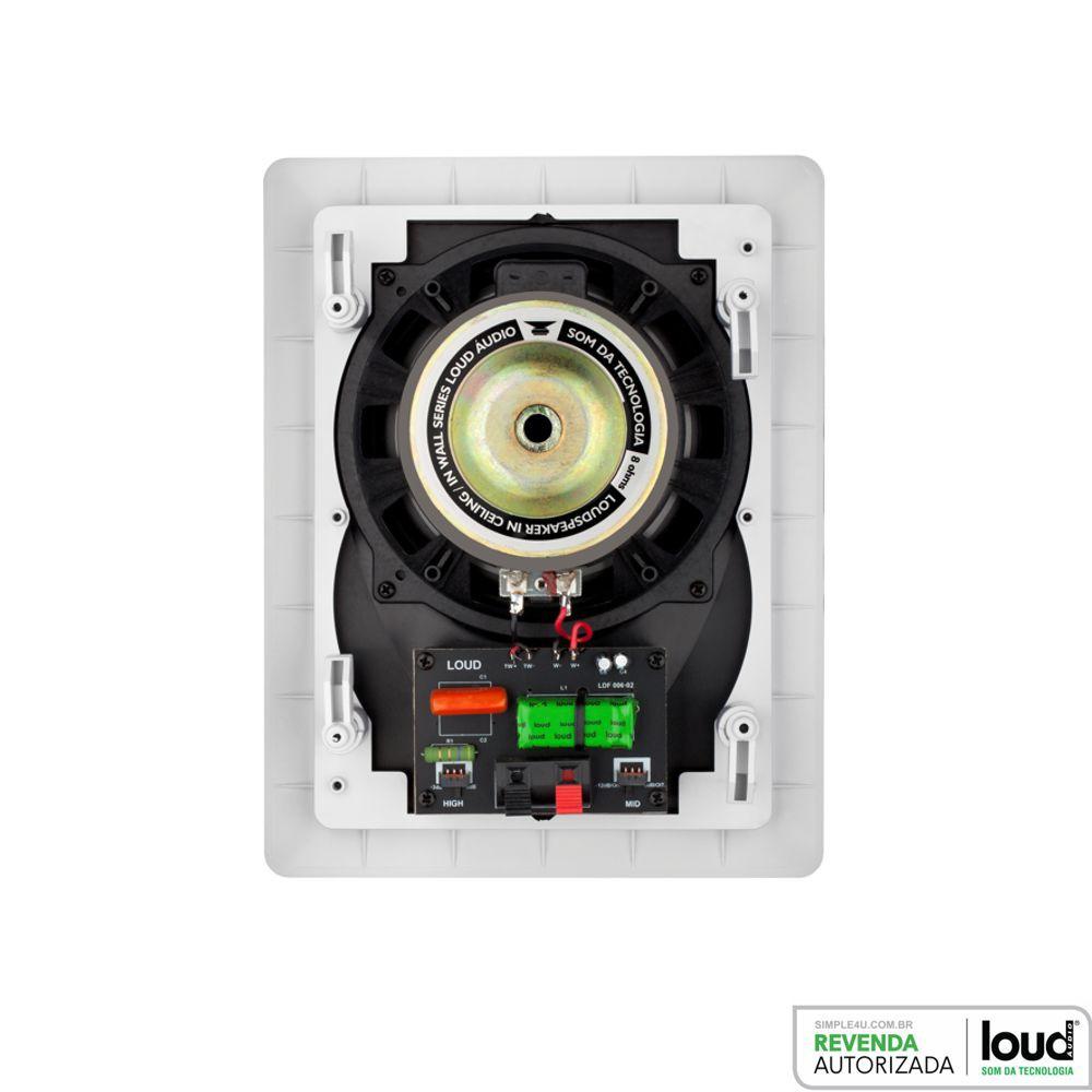 Caixa de Embutir Retangular Plana 100W RMS LR6-100 Loud