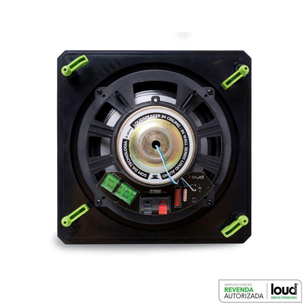 Caixa de Embutir no Gesso Borderless Quadrada Plana 100W RMS SQ8 BL Loud