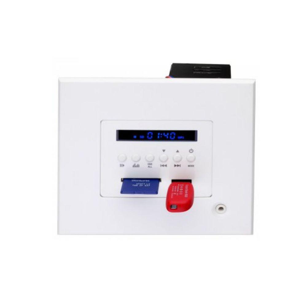 Kit Amplificador de Parede Bluetooth LAC LX BT + 2 Caixas Acústicas de Embutir SQ5-50 Loud