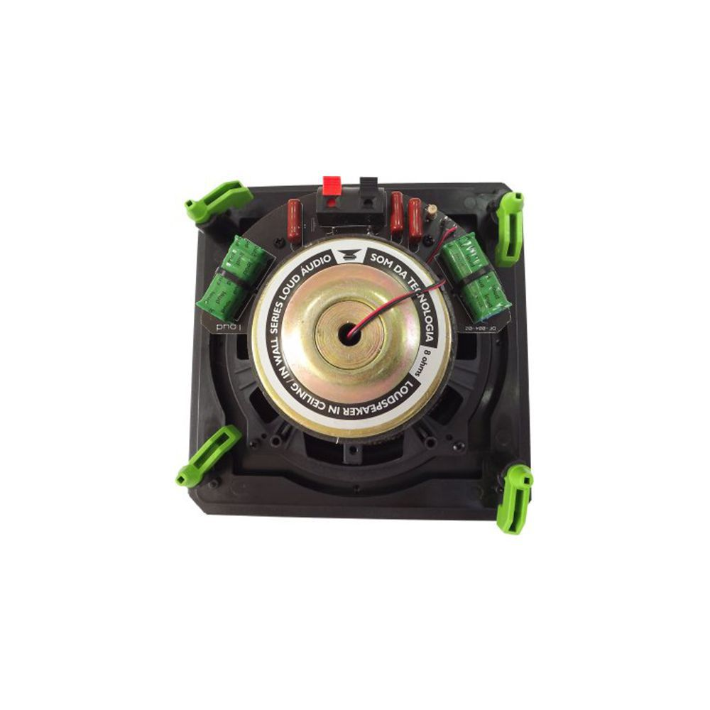 Kit 5.0 Caixa de Embutir no Gesso LHT-100BL + CLK6-120 BL + CSK6-120 BL Loud
