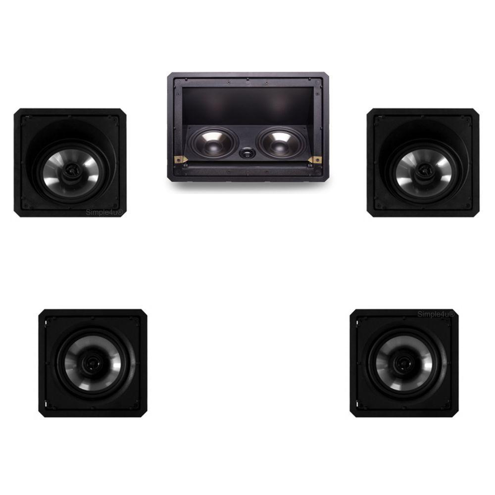 Kit 5.0 Caixa de Embutir no Gesso LHT-80BL + SL6-120BL + SQ6-120BL Loud