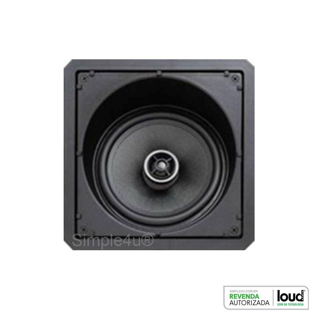 Kit 5.0 Caixa de Embutir no Gesso Linha Black Kevlar CLK6-120 BL + CSK6-120 BL Loud