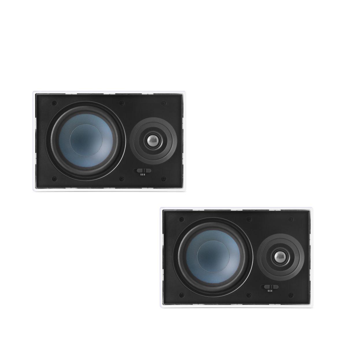 Kit 5.1.2 Dolby Atmos Caixa Acústica de Embutir LCR-A100 + LR-E100 + NQ6-M100 + Subwoofer Compact Cube 8 AAT