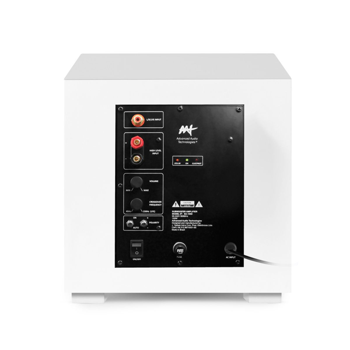 "Kit 5.1 Caixa de Embutir no Gesso LCR-A100 + LR-E100 + Subwoofer Compact Cube 8"" AAT"