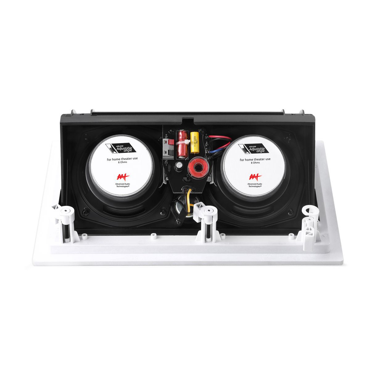 "Kit 5.1 Caixa de Embutir no Gesso LCR-A100 + LR-E100 + Subwoofer Cube Rakt 8"" AAT"