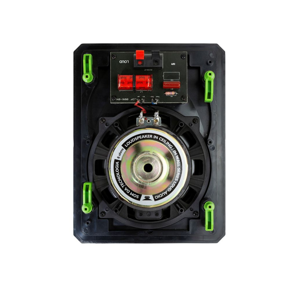 Kit 7.0 Caixa Acústica de Embutir LHT-100 BL + LR6-120 BL Loud