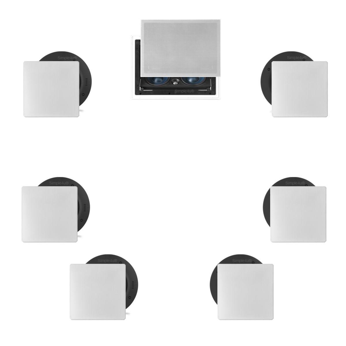 Kit 7.0 Caixa de Embutir no Gesso LCR-A100 + NQ6-A100 + NQ6-M100 AAT