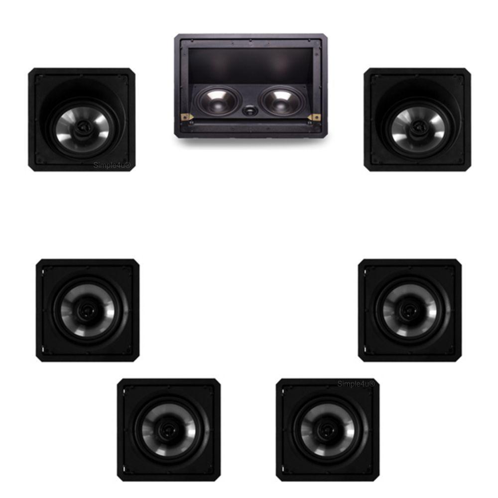 Kit 7.0 Caixa de Embutir no Gesso LHT-80BL + SL6-120BL + SQ6-120BL Loud